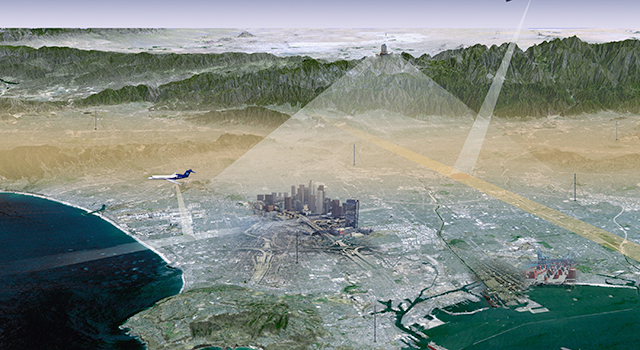 Artist's concept of the LA Megacities Carbon Project observing system.