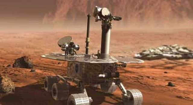 Artist's concept of 2003 Mars Exploration Rover