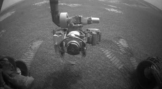 Opportunity view of first drive in six weeks