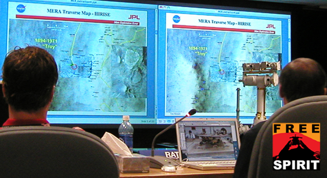 Panelists reviewed results to date from testing possible maneuvers to use in driving NASA's Mars Rover Spirit.
