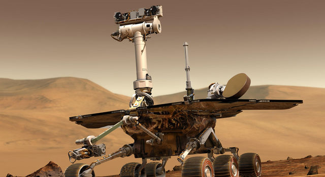 Artist's concept of a Mars Exploration Rover