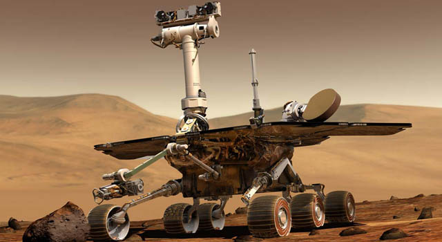 Artist's concept of the Mars exploration rovers.