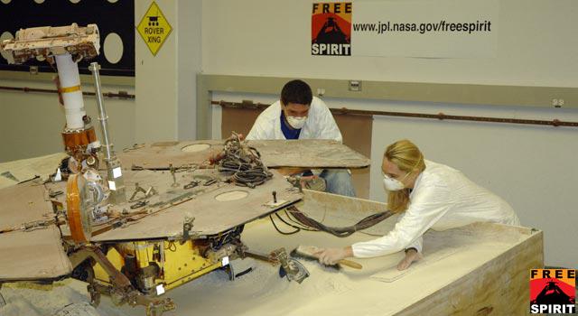 Spirit rover testing