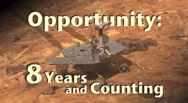 Opportunity on Mars:  Eight years and counting