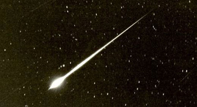 This photo illustration of a different fireball was taken in 1966 by astronomer Jim Young.