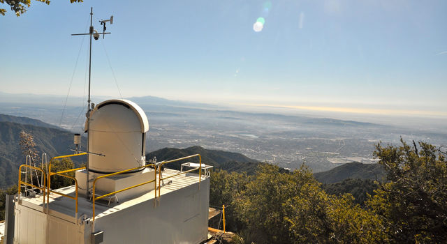 The CLARS observatory on Mt. Wilson in southern California's San Gabriel Mountains.