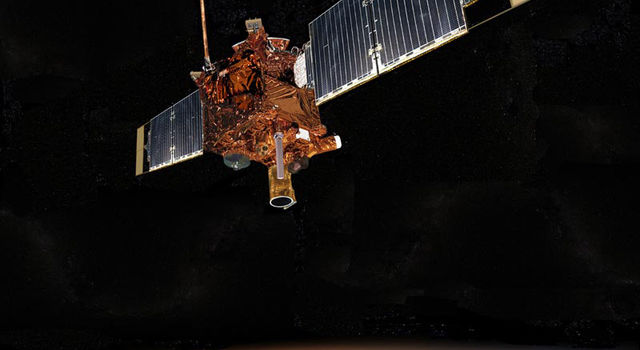 Artist concept of Mars Global Surveyor.