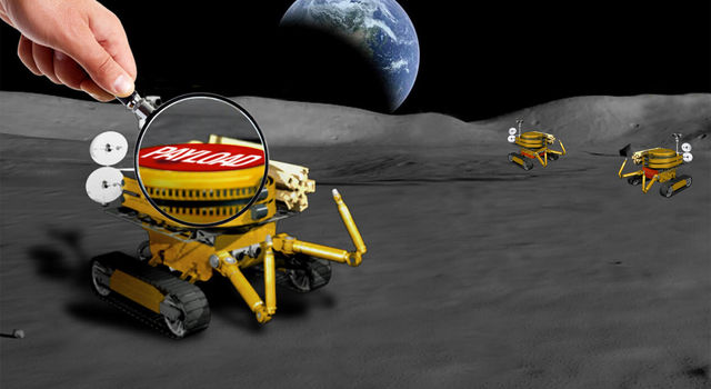 Miniaturized Moon rover artist concepts