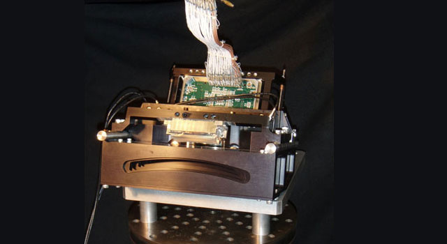 A laboratory test version of the airborne prototype for the Multiangle SpectroPolarimetric Imager camera.