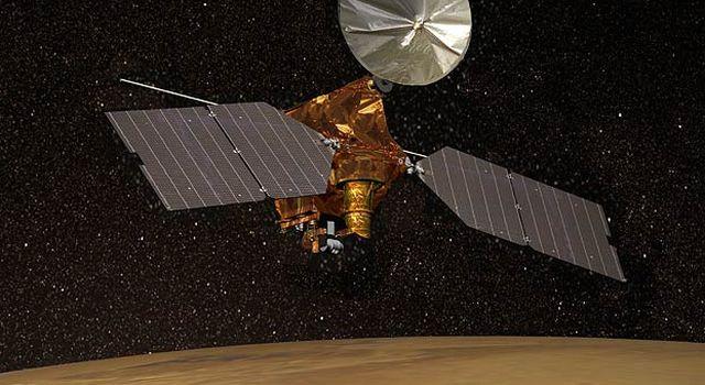 Artist's concept of Mars Reconnaissance Orbiter.