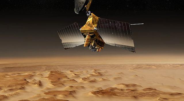 artist's concept of Mars Reconnaissance Orbiter