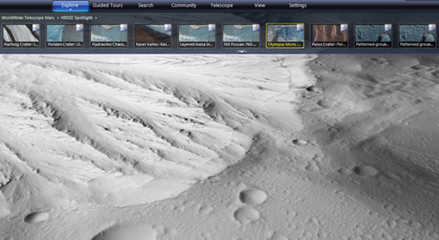Screengrab of WorldWide Telescope software