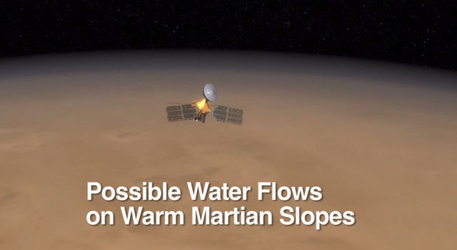 Possible Water Flows on Mars