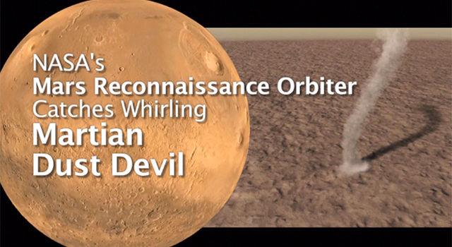 Mars' Whirling Dust Devil