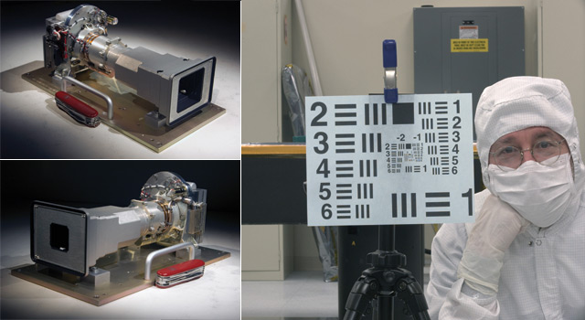 Two camera's for MSL (left) and principle investigator Michael Malin (rght)