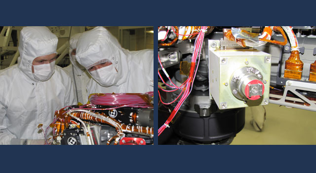 Image on the left shows Grad student Nicholas Boyd (left) and Principal Investigator Ralf Gellert, both of the University of Guelph, Ontario, Canada