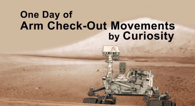 Curiosity Working Its Arm