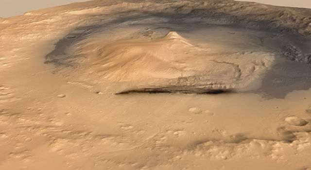 Curiosity's Path to Mount Sharp