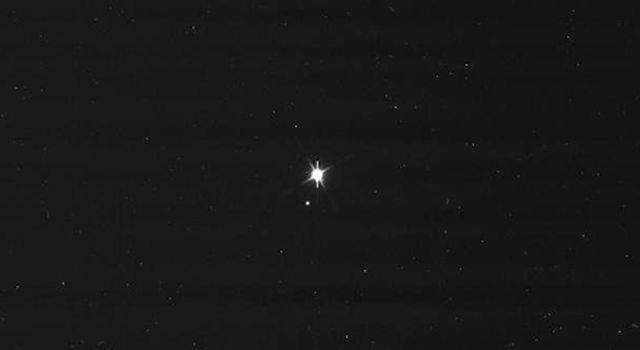Cassini's View Earth and Moon - Raw Image