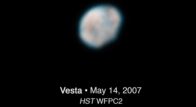 Asteroid Vesta as seen by NASA's Hubble Space Telescope