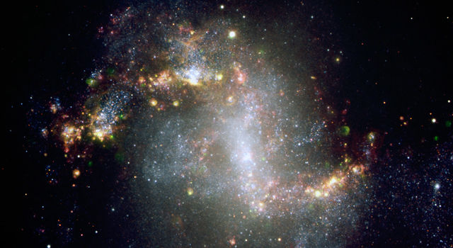 Central region of galaxy NGC1313