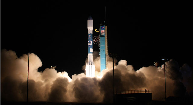 Delta II lifts off carrying NPP