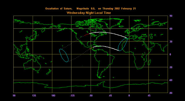 A map from the International Occultation Timing Association