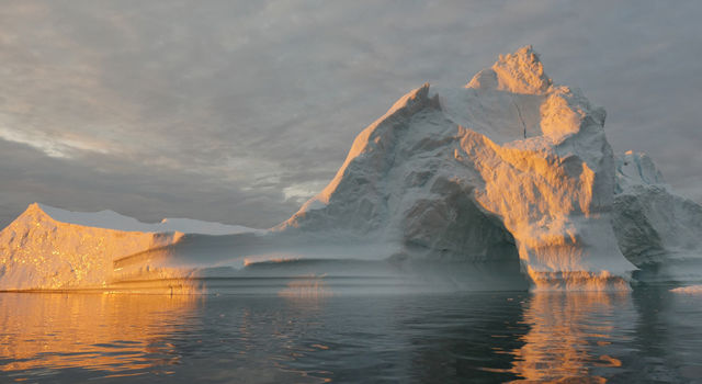 An iceberg floats in Disko Bay, near Ilulissat, Greenland, on July 24, 2015.