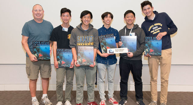 2019 Santa Monica High School Ocean Sciences Bowl team