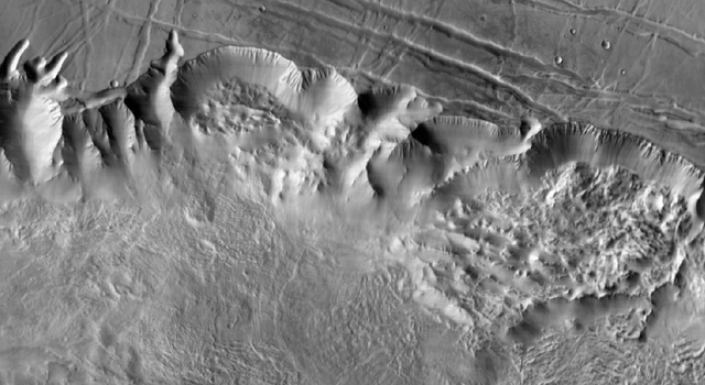 A portion of Valles Marineris on Mars
