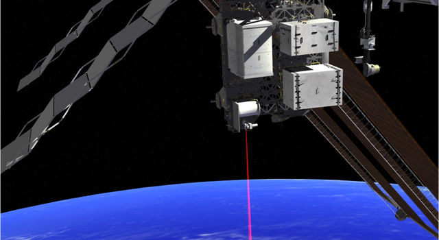 This artist's rendition shows OPALS operating from the International Space Station.