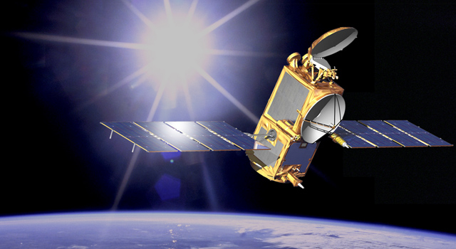 artist concept of OSTM/Jason-2 in space