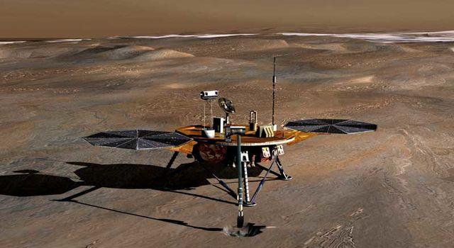artist's concept of Phoenix on Mars