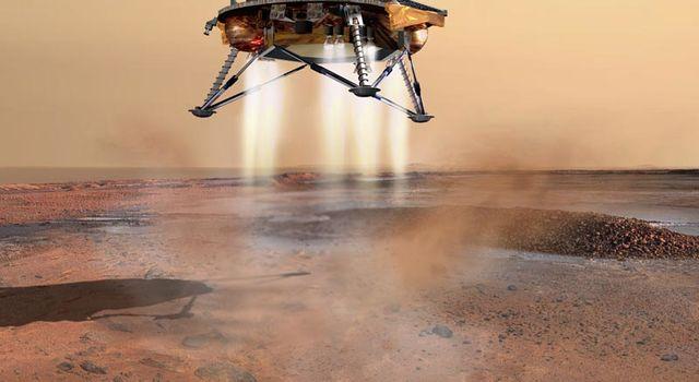 artist concept of Phoenix landing on Mars