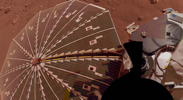 One of the Mars Phoenix Lander's solar panels