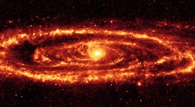 infrared image of Andromeda galaxy