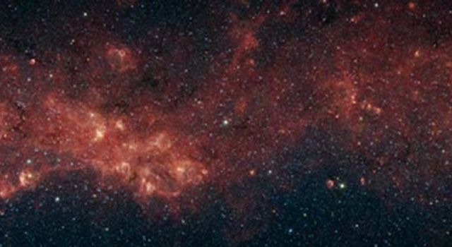 panoramic, infrared image of a plethora of stellar activity in the Milky Way's galactic plane
