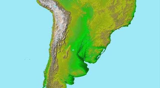 South America Shines in NASA''s Latest Space Radar Map Release