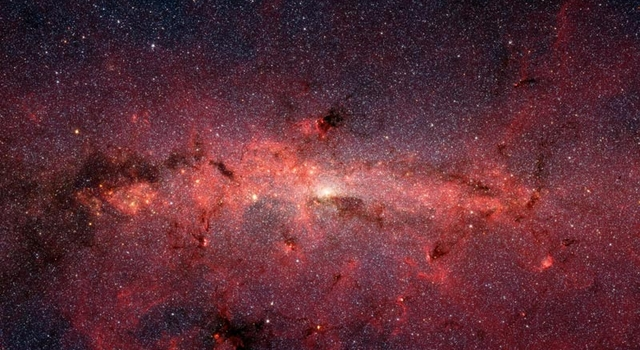 infrared view of core of Milky Way galaxy