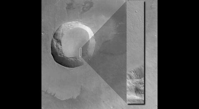 Marine Picks First Public Mars Global Surveyor Image