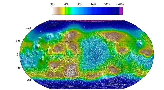 Water Mass Map from Neutron Spectrometer