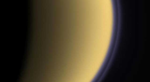 color image of Saturn's moon Titan