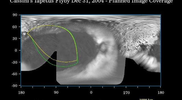 planned image coverage for upcoming Iapetus flyby