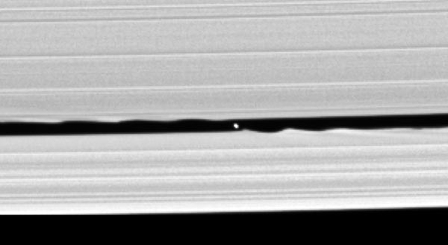 newly discovered moon in the Keeler gap of Saturn's rings