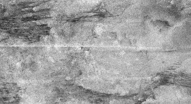 Radar mapper image of Titan