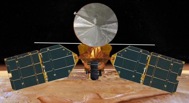 artist concept of NASA's Mars Reconnaissance Orbiter