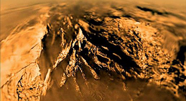 This movie was built with data collected during the 147-minute plunge through Titan's thick orange-brown atmosphere