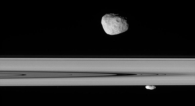 Saturn's moons Janus and Prometheus