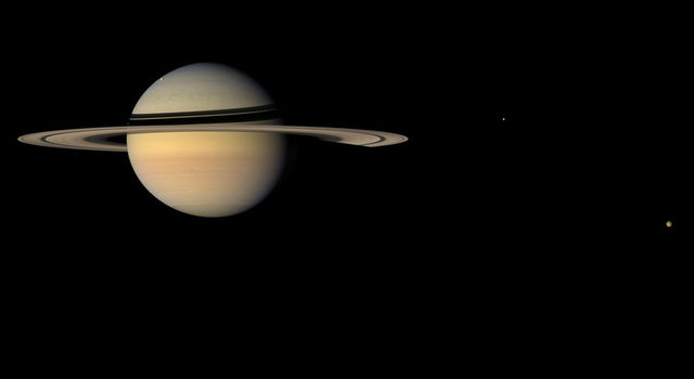 Researchers have determined the location of the Saturn system's center of mass