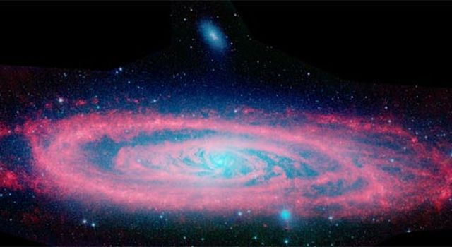 infrared view of Andromeda galaxy